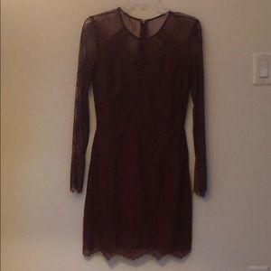 Greylin Shirley Lace Dress in Bordeaux